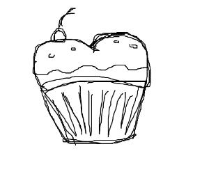 Butt Cupcake