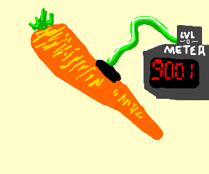 Vegetable's power level is over 9000