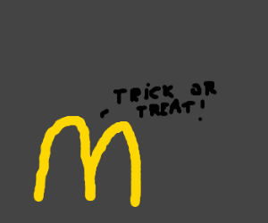 Fast food trick-or-treating