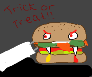 Trust me, you don't want a burger on Halloween