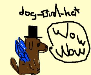 Wow! Such doge. Very bird. wow! Much hat.