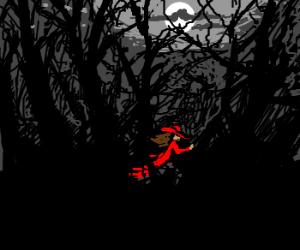 Carmen Sandiego in a strange forest