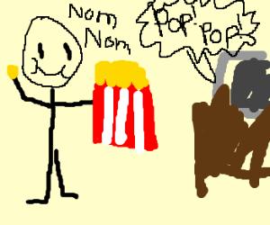 pop corn eater