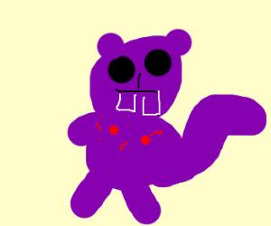 Purple squirrel has sore nipples