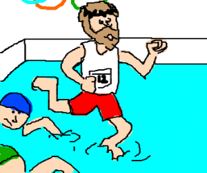 Only Jesus can win the Olympics!