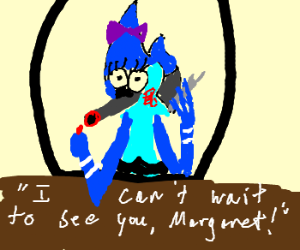 Mordecai tries crossdressing