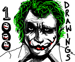 1000 drawings why so serious drawception