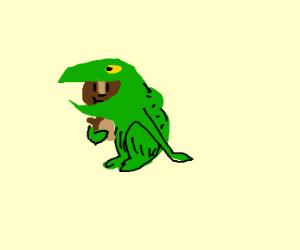 That lizard looks suspiciously like a chipmunk