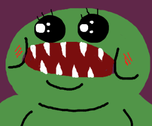 Kawaii Razor-Toothed Monster with Spots