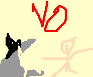 Posh shark refuses to eat a man