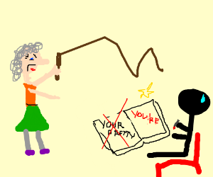Grandma rebels against grammar