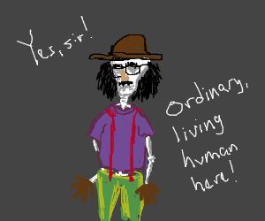 """Skeleton: """"What if I dress up like a human?"""""""
