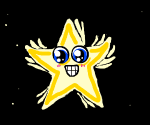 Overly enthusiastic star.
