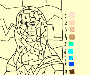 Paint-by-numbers Mona Lisa
