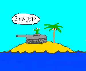 Tank driver can't find Shirley Temple
