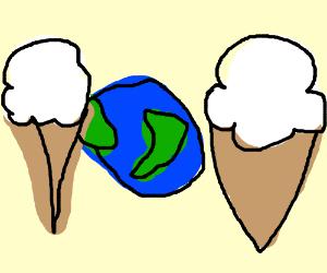 the world between vanilla ice cream