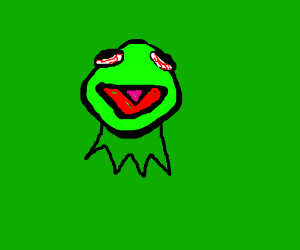 Kermit the frog is stoned