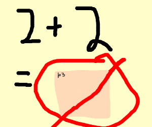 2+2 equals [panel removed]?