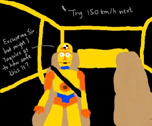 C-3PO's new job - Crash Test Dummy