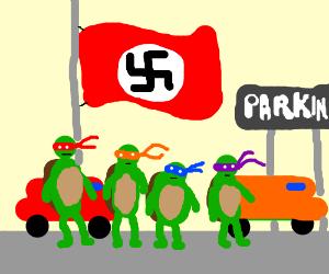 nazi ninja turtle rules parking lot