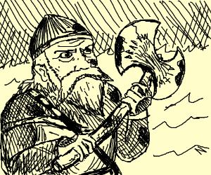 Bloody real Viking had no horny helmet