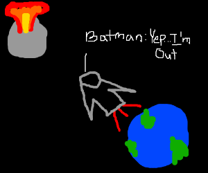 Moon explodes, causes Batman to flee Earth