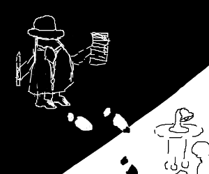 If Drawception were a B&W detective movie