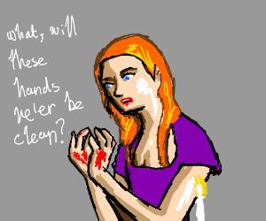 Lady Macbeth washing hands