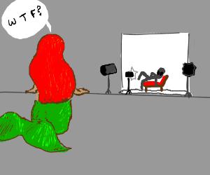 ariel watches UFO shoot