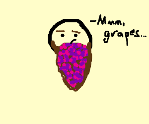 eating concord grapes disguised his beard