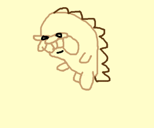 A Very Ugly Hedgehog Drawception
