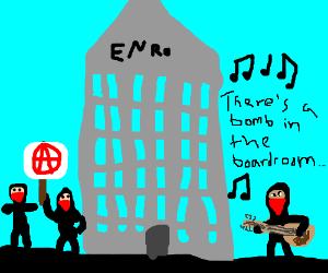 Anarchist hippy sings bomb threats