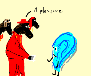spanish horse inquisitor meet a cyan ear boy