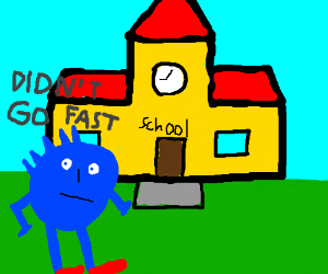 Sonic is late for school