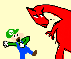 Luigi fights a dragon, and has a heart attack