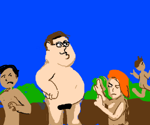 Family Guy family hangs out at nudist colony.
