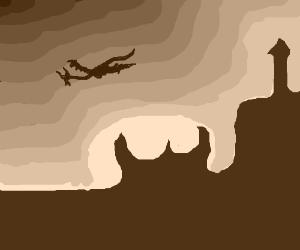 The sun rises in the forlorn Dragon Realm.