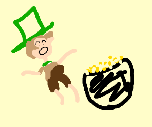 Irishman found a pot of gold and has boner