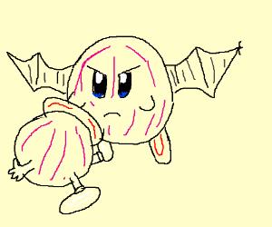 Batkirby kills pink Lolo.