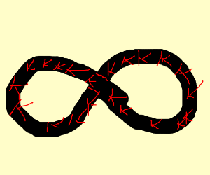 Infinity is populated with lots of letter Ks