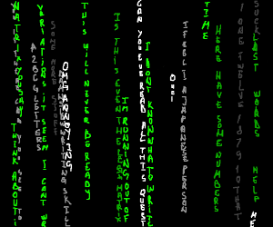 The Matrix, as it appears on computer screens