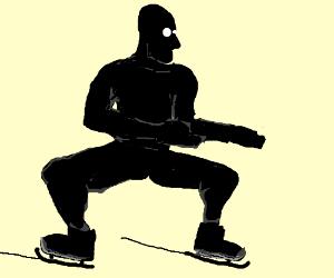 Ninja ice-skating