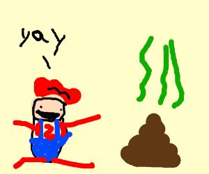 Baby Mario likes poo