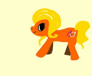 Blonde/orange gay pony