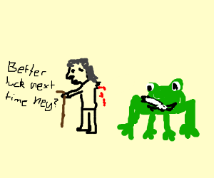 tweeker grandma has arm chewed off by frog