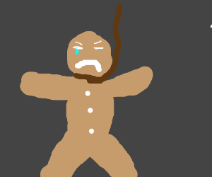 Gingerbread man commits suicide