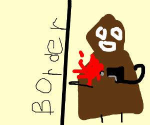 Borderlands bandit shooting himself