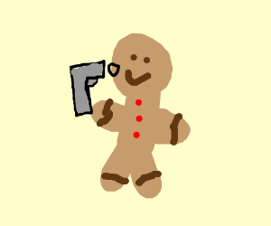 gingerbread man committing suicede
