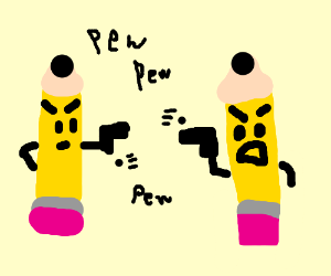 pencil warfare
