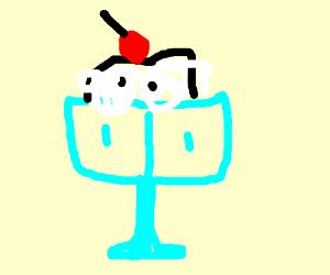 Delicious sundae